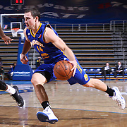 Santa Cruz Warriors Guard Aaron Craft (14) dribbles the ball towards the in the second half of a NBA D-league regular season basketball game between the Delaware 87ers and the Santa Cruz Warriors (Golden State Warriors) Tuesday, Jan. 13, 2015 at The Bob Carpenter Sports Convocation Center in Newark, DEL