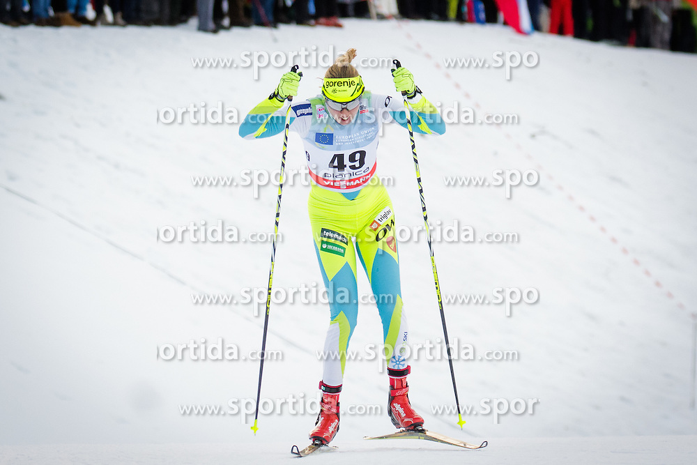 Anita Klemencic (SLO) during Ladies 1.2 km Free Sprint Qualification race at FIS Cross<br /> Country World Cup Planica 2016, on January 16, 2016 at Planica,Slovenia. Photo by Ziga Zupan / Sportida