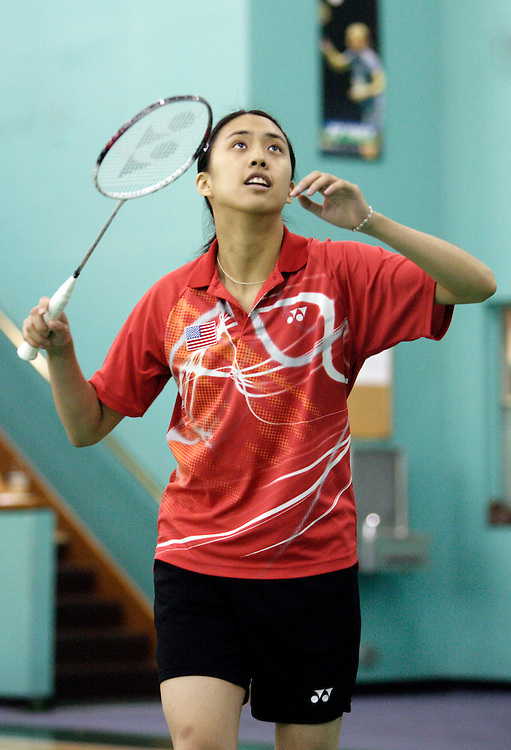 ORANGE, CA, January 3, 2008: Top badminton players, including past Olympic gold medalists, train at the Orange County Badminton Club in Orange, California. Mesinee (May) Mangkalakiri is likely to make the US Olympic team.