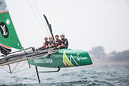Image licensed to Lloyd Images. Free for editorial use. <br /> Pictures of Official Practice Day 24.07.15 - Team France skippered by Frank Cammas <br /> Credit: Lloyd Images