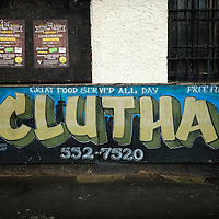 A general view of the Clutha bar sign on November 28, 2014 in Glasgow, Scotland. As the first year anniversary of the Clutha Vaults approaches it is still unclear what caused the engine failure that led to a Police Scotland helicopter to crash into the roof of the pub killing ten people.
