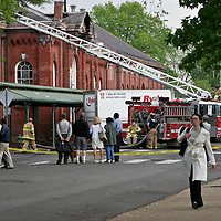 7th Street, SE, on the morning after the fire at historic Eastern Market.