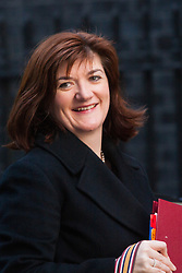London, February 24th 2015. Ministers arrive at the weekly cabinet meeting at 10 Downing Street. PICTURED: Nicky Morgan, Secretary of State for Education, Minister for Women and Equalities
