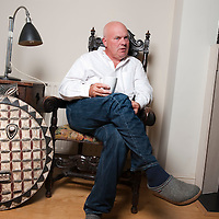 UK. London. Declan Donnellan, who is joint founder of Cheek by Jowl with Nick Ormerod. He is also joint Artistic Director of the company. Photographed in his home in North London.Photo©Steve Forrest