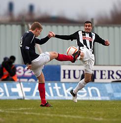 Falkirk's Jay Fulton and Dunfermline's Craig Dargo. Falkirk v Dunfermline, 16/2/2013..©Michael Schofield.