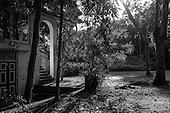 Sri Lanka. 'Lunuganga'. Geoffrey Bawa's country home & garden. Black & White