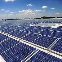 Phase 1  of a three phase 5 megawatt solar array atop Show Shoe headquarters in Concord