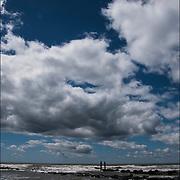 Cloud and seascape of Atlantic Ocean in May Atlantic City, NJ