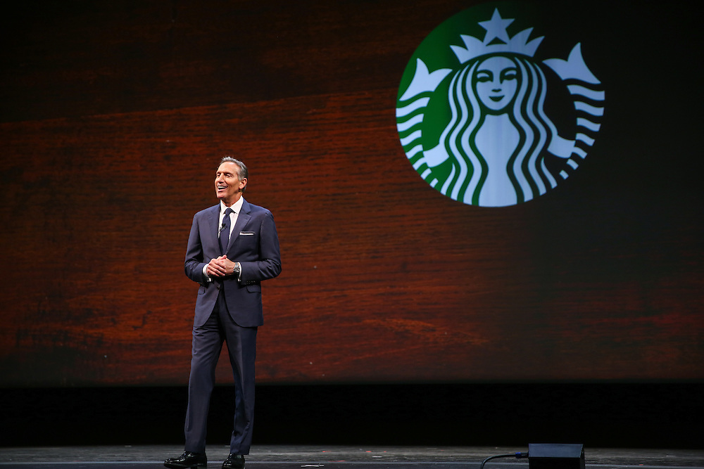 during the Starbucks Annual Meeting of Shareholders at McCaw Hall in Seattle. Photographed on Wednesday, March 23, 2016. (Joshua Trujillo, Starbucks)
