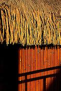 Image of a bungalow detail on Bora Bora, Tahiti, French Polynesia