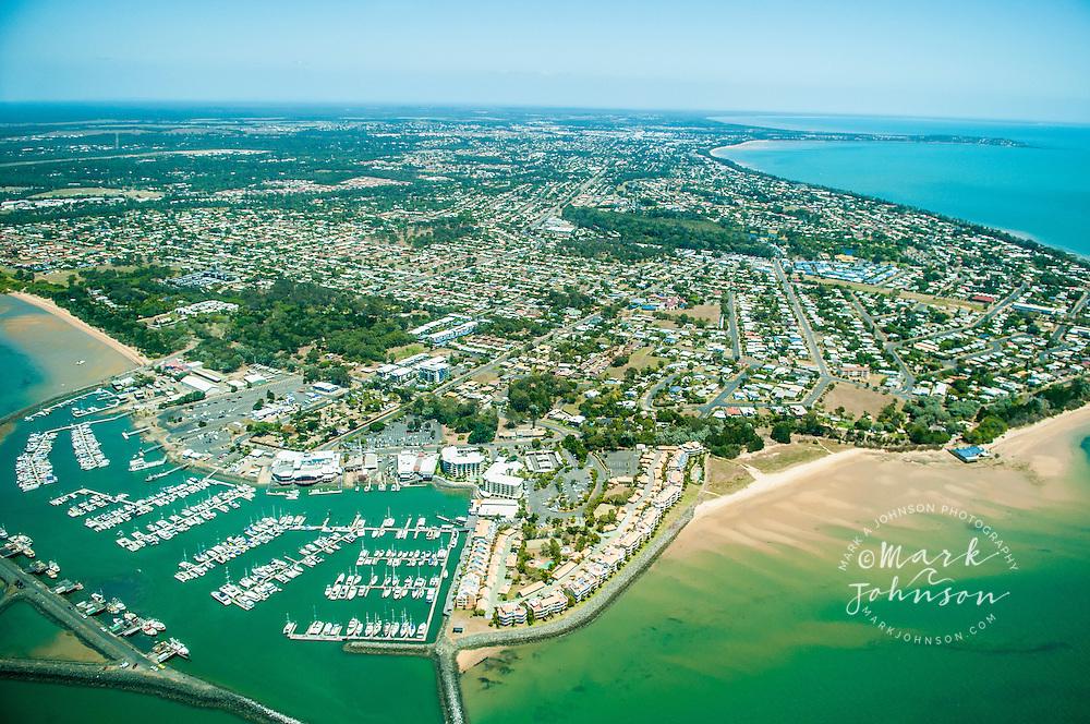 Aerial view of Hervey Bay, Queensland, Australia