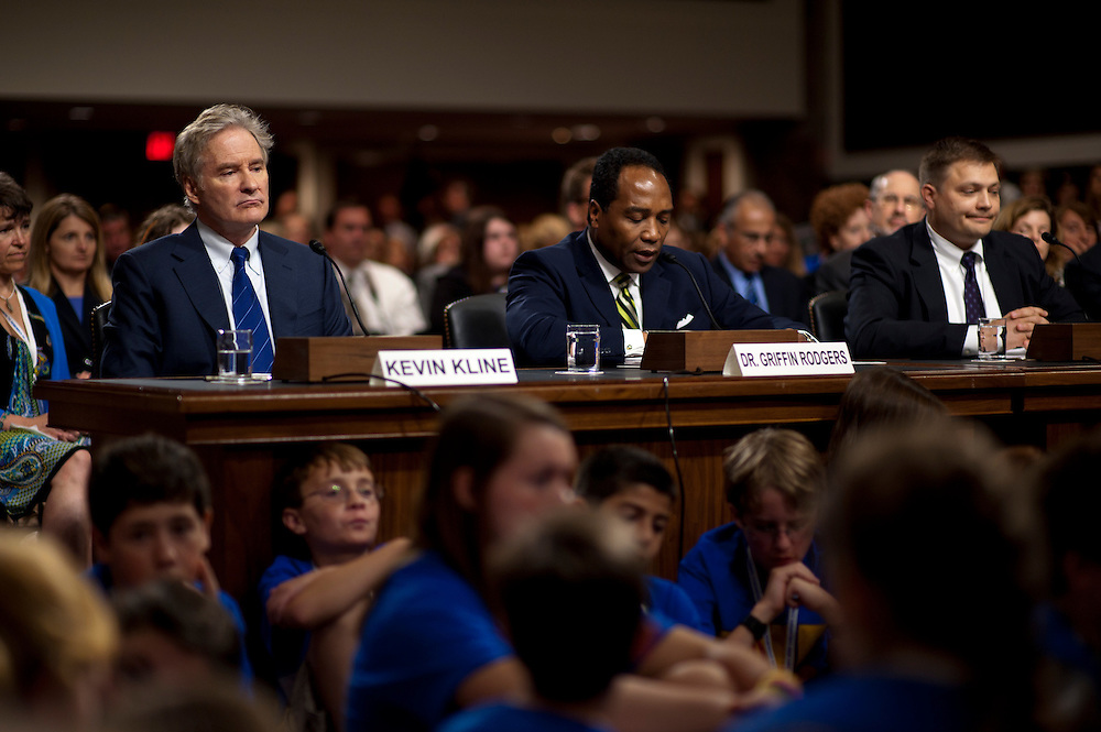 Actor KEVIN KLINE, celebrity advocate and co-chairman of the Juvenile Diabetes Research Foundation testifies before a Senate Homeland Security and Governmental Affairs Committee hearing on Juvenile Diabetes Research on Capitol Hill on Wednesday.