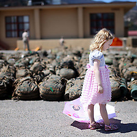 Liliana Gireaux,4,waits for her Dad  to return from a Twelve Month deployment to Afghanistan  at Camp Pendleton, CA.  About 275 marines from the 1st Marine Expiditionary Unit combat brigade returned.