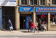 Mix population in the centre of Bradford / Population mélangée dans le centre de Bradford.