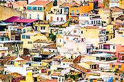 Hillside houses, Taormina, Sicily, Italy