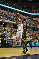 Ohio State forward Deshaun Thomas (1) puts up a shot in the first half of the Big Ten Tournament semifinals in Indianapolis, on March, 11, 2011, at Conseco Fieldhouse. Ohio State defeated Michigan 68-61.