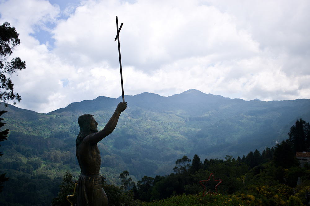 Statue of Jesus Christ on Monserrate near Bogotá, Colombia.