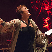 "Lucy Shelton performs Reinbert de Leeuw's Im wunderschönen Monat Mai (""In the Merry Month of May""), a cycle of 21 songs on Schumann and Schubert at the 66th Ojai Music Festival on June 8, 2012 in Ojai, California."