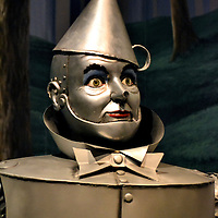 Tin Man from Wizard of Oz  at the Oz Museum in Wamego, Kansas<br /> A popular quote from the 1939 movie &ldquo;The Wonderful Wizard of Oz&rdquo; is, &ldquo;Toto, I&rsquo;ve a feeling we&rsquo;re not in Kansas anymore.&rdquo; This phrase also was voted the fourth most famous line in American cinema. Apparently, Dorothy and her Cairn Terrier lived in Wamego, Kansas. This is also where the Wizard of Oz museum displays 25,000 artifacts from the movie, including this full-scale replica of the Tin Man.