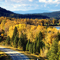 Troy Montana in fall. Lincoln County, Montana.