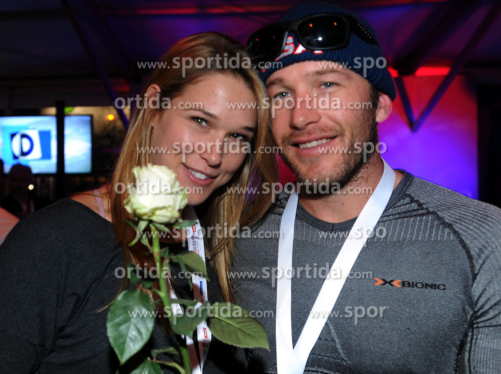 14.02.2014, Austria Tirol House, Krasnaya Polyana, RUS, Sochi, 2014, im Bild BODE MILLER MIT FRAU MORGAN // BODE MILLER MIT FRAU MORGAN during the Olympic Winter Games Sochi 2014 at the Austria Tirol House in Krasnaya Polyana, Russia on 2014/02/14. EXPA Pictures © 2014, PhotoCredit: EXPA/ Erich Spiess