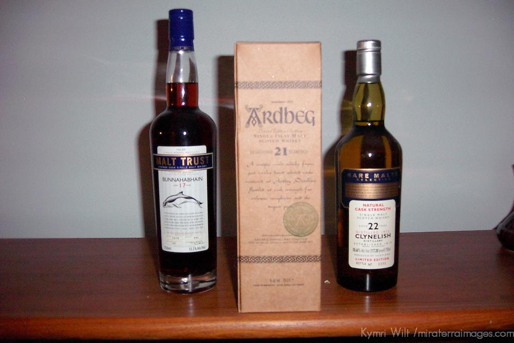 Scotland. Three collectors whiskys.