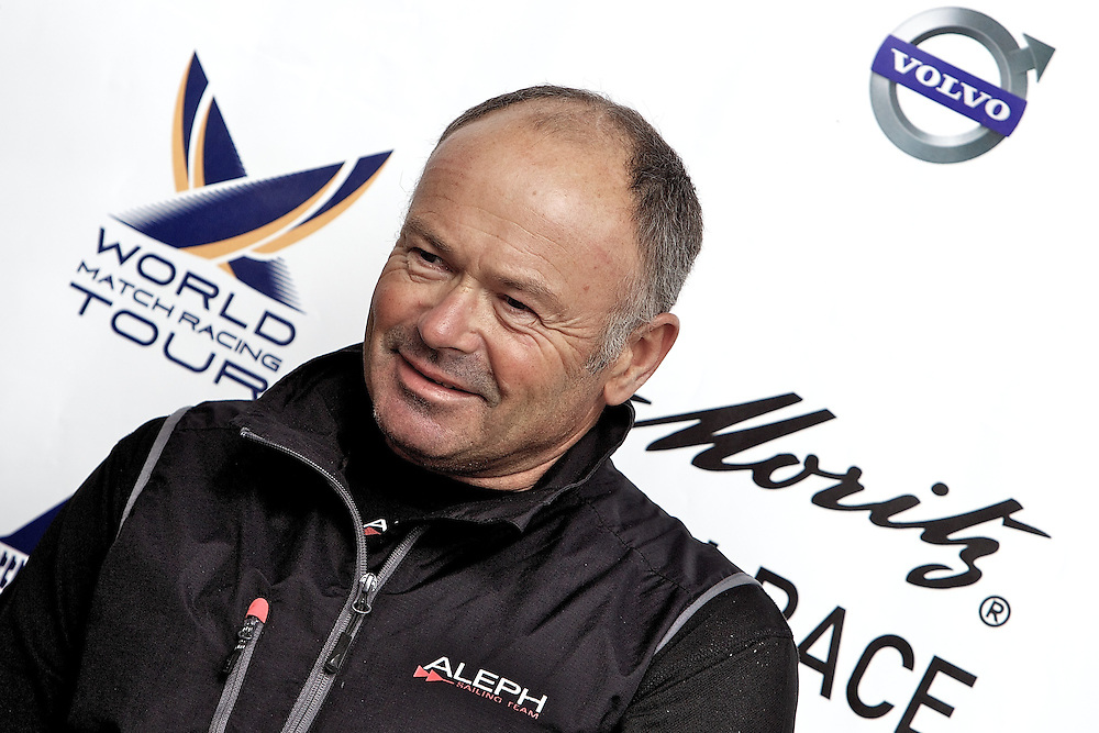 Bertrand Pace, Aleph Sailing Team. St Moritz Match Race 2010. World Match Racing Tour. St Moritz, Switzerland. 4th September 2010. Photo: Ian Roman/Subzero Images