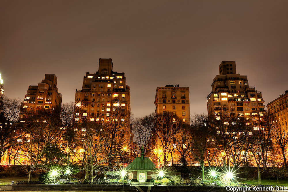 Central Park at night, what a place.  This shot was taken on the upper east side of the park on a windless night.