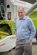 Agricultural machinery brochure photography photographed in Scotland & Northern England for Claas combine harvesters UK.