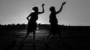 Performers for the Gulliah Gundala performers in Gulliah Tjukurr dance in Kalgoorlie salt lake