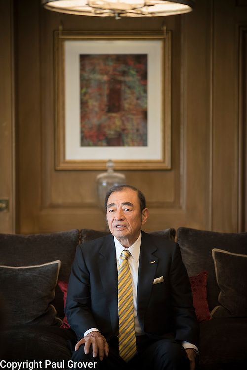 Pic Shows The Chief Executive of Fujifilm Shigetaka Komori