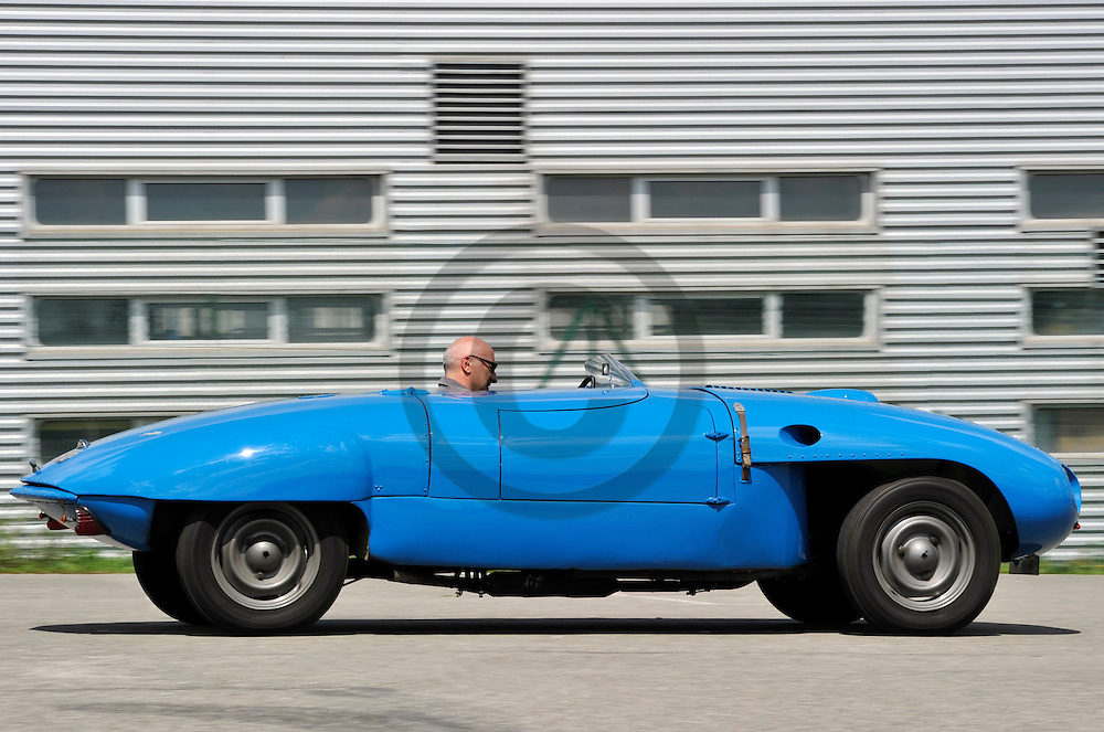 29/07/11 - AGEN - LOT ET GARONNE - FRANCE - Essais Barquette Peugeot 203 BARBIER de 1953 - Photo Jerome CHABANNE