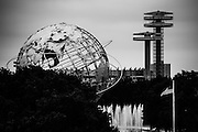 The Unisphere in Queens, New York. Taken from the top terrace at Flushing Meadows