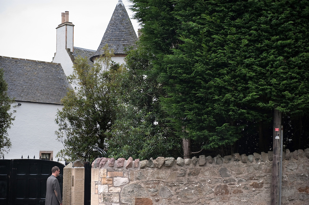 The Whitehouse in Cramond Park, Edinburgh, Scotland, one of the homes where JK Rowling lives.