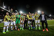 ROTTERDAM - Sparta Rotterdam - Vitesse , Voetbal , Halve Finale KNVB Beker , Seizoen 2016/2017 , Sparta stadion het Kasteel , 01-03-2017 ,  eindstand 1-2 , Vitesse wint de wedstrijd en viert dat ze naar de kuip mogen.