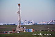 drilling platform drilling blackfeet reservation glacier national Park conservation photography - blackfeet oil