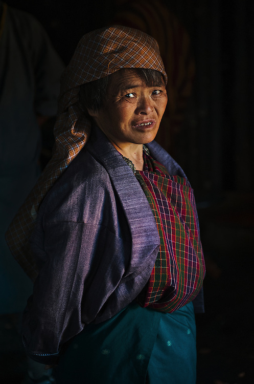 A Bhutanese woman from Bumthang.