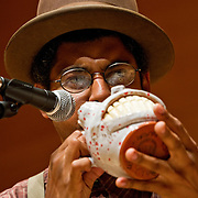 9/14/10 Medford/Somerville, Mass.  - The Carolina Chocolate Drops perform on stage at Tufts University's Distler Auditorium on Tuesday, September 14, 2010...Photo by Alonso Nichols/Tufts University