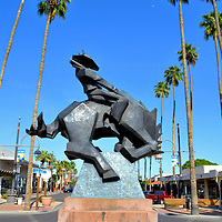 Jack Knife Sculpture in Scottsdale, Arizona<br />