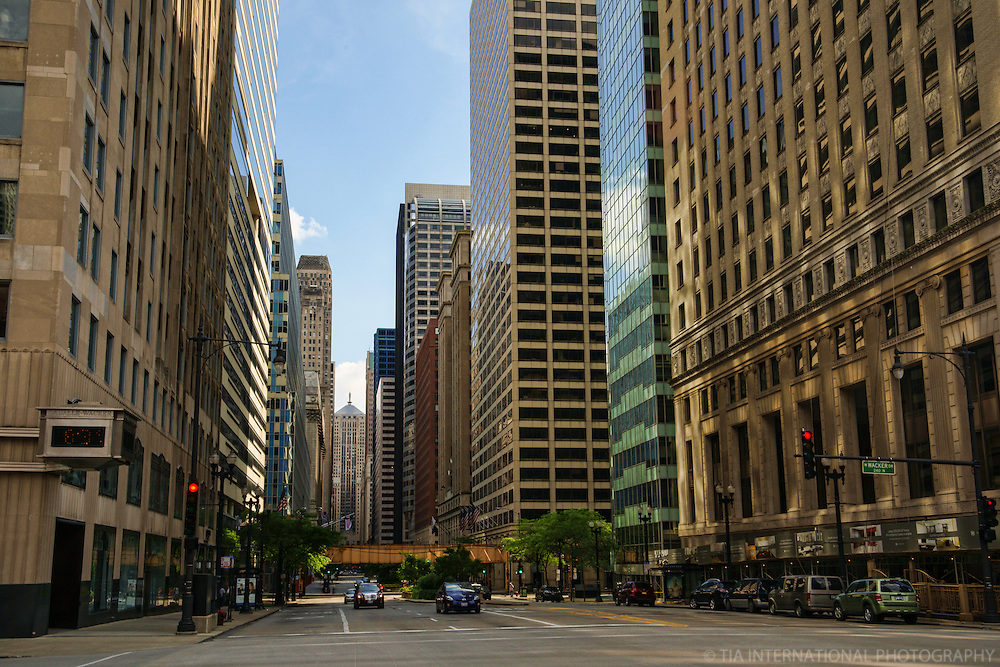 LaSalle Street & Chicago Board of Trade (Day)
