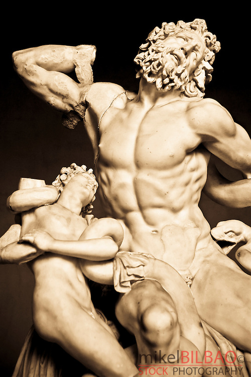 Laocoon and his sons or Laocoon group. Vatican Museums, Vatican City, Rome.