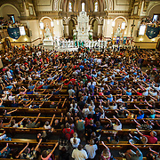 Welcome Mass in St. Aloysius Church during Orientation weekend.<br /> <br /> Photo by Rajah Bose