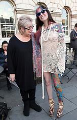 FEB 21 2014 Dame Jenni Murray at London Fashion Week