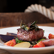 Beef Tenderloin created by Chef Steve True at the beautiful Nonantum Resort in Kennebunkport, Maine. Just one of the many dishes he prepared for this photo shoot in Portland, Maine.