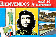 Sign in Minas de Matahambre, Pinar del Rio, Cuba.