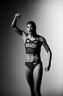 Sao Paulo, Brazil, May 24 of 2012: Maurren Higa Maggi, 2008 Olympic Champion for the long jump, during a Nike photo shoot in a studio, in Sao Paulo - Brazil.  (Photo: Caio Guatelli)