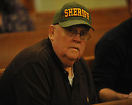 Lafayette County sheriff Buddy East awaits voting results at the Lafayette County Courthouse in Oxford, Miss. on Tuesday, November 8, 2011.