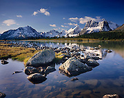 Continental Divide from Amethyst Lake in the Tonquin Valley Jasper National Park Alberta Canada