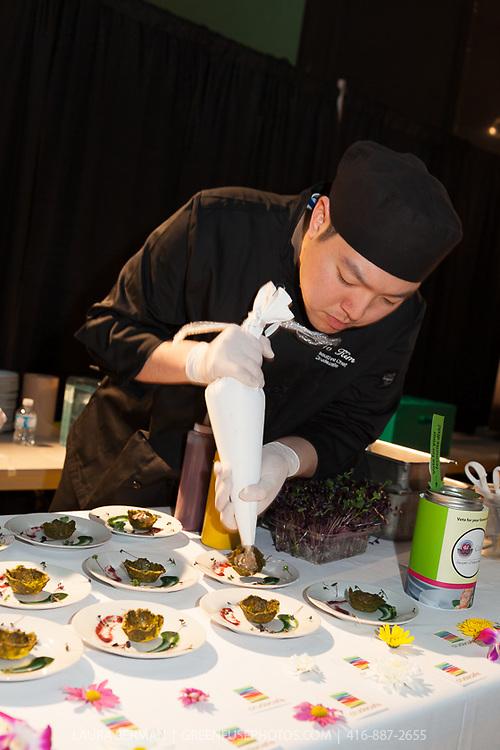 Cruda Café's Raw Truffle King Oyster Mushroom Tartlets at FoodShare Toronto's Recipe for Change, February 28,  2013