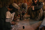 Cheap, readily available opium, heroin and hashish have a profound effect on a population.?Peshawar is on the northern Pakistani border with Afghanistan, and thus receives a large drug smuggling community, which addicts and gun wielding drug-lords inevitably follow.?<br /> UNODC data shows that more land is used to grow opium in Afghanistan, than for coca in Latin America.? ?It was estimated that in 2008 90% of the heroin traded on the streets of Britain was grown in the fields of Afghanistan. <br /> Since the fall of the Taliban in 2001, the level of opium poppy production has increased year on year.<br /> <br /> From talking to aid workers in both Pakistan and Afghanistan, I learned that opium is used by local people as a 'one-for-all' remedy. In rural areas newborn babies are given a small amount of opium to 'calm' them if they cry. Thus many babies are addicted to opium before the age of four months old. Cold, headache and tiredness are also treated by opium in areas where doctors are not available.